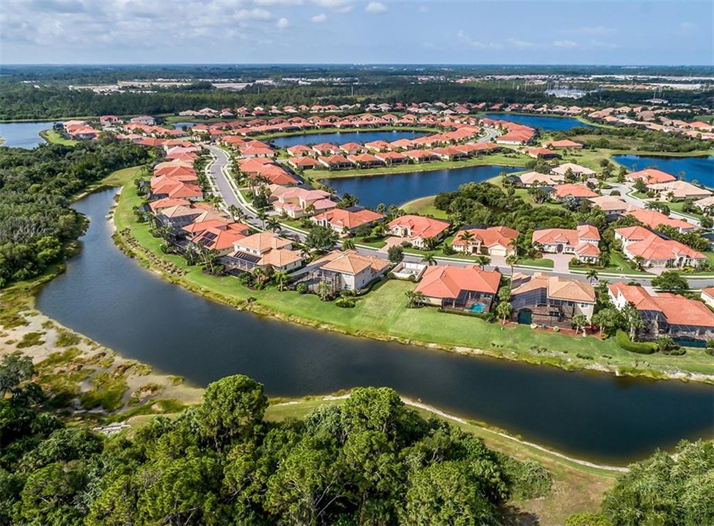 Aerial of community - Single Family Home for sale at 189 Portofino Dr, North Venice, FL 34275 - MLS Number is N6106071