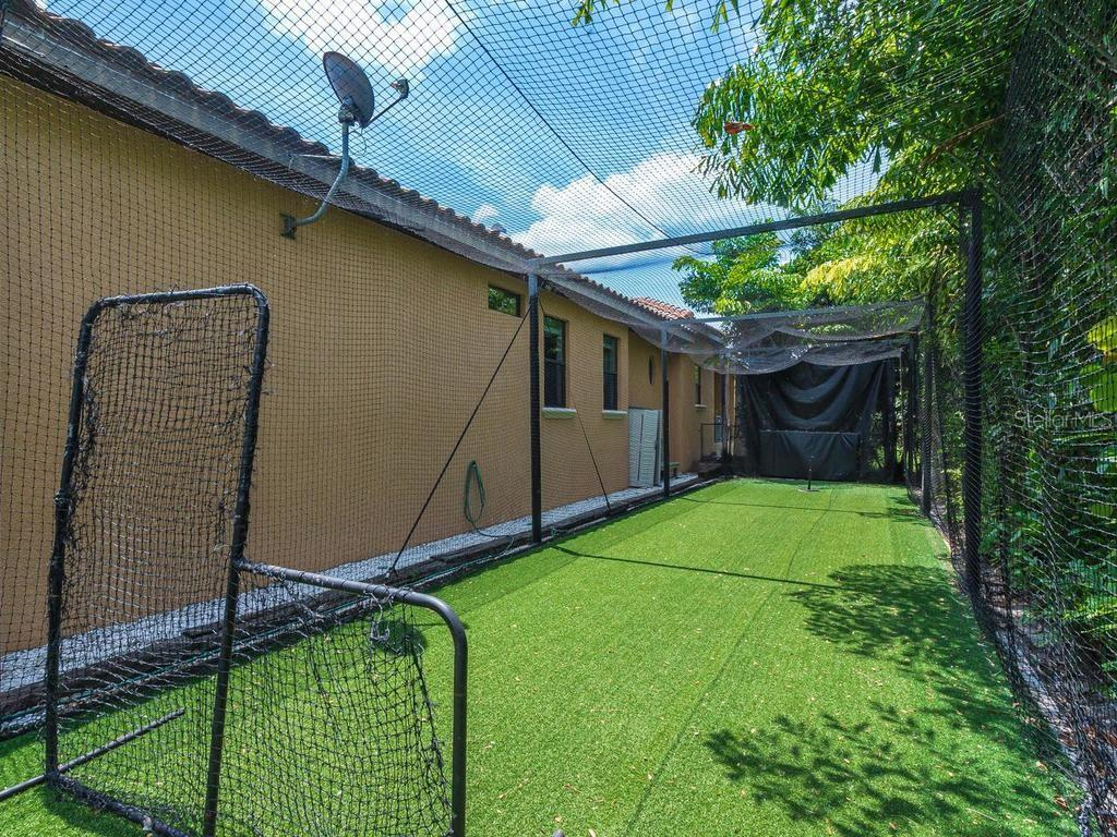 Batting Cage - Single Family Home for sale at 1050 Gulf Winds Way, Nokomis, FL 34275 - MLS Number is N6106314