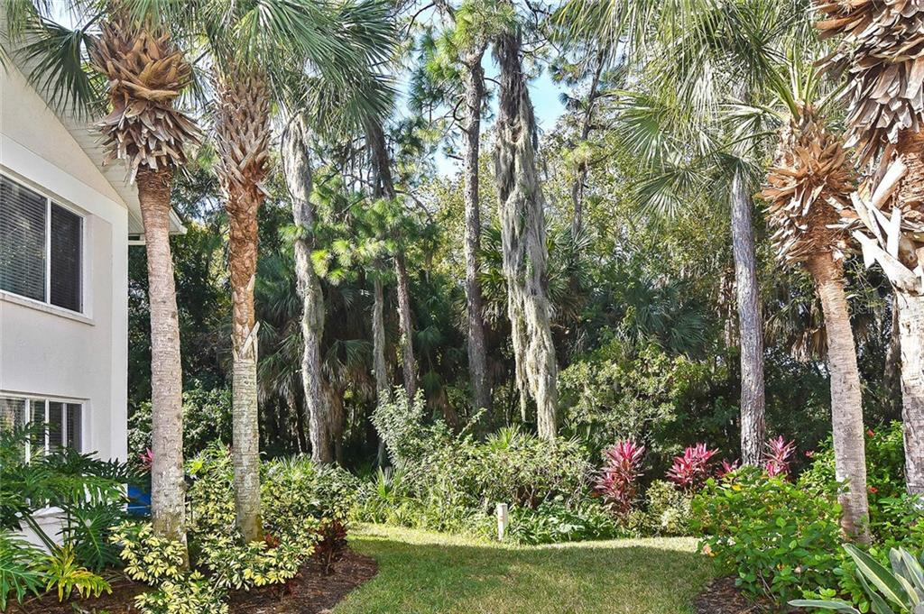 Lush tropical foliage under the trees - Condo for sale at 817 Montrose Dr #204, Venice, FL 34293 - MLS Number is N6108125