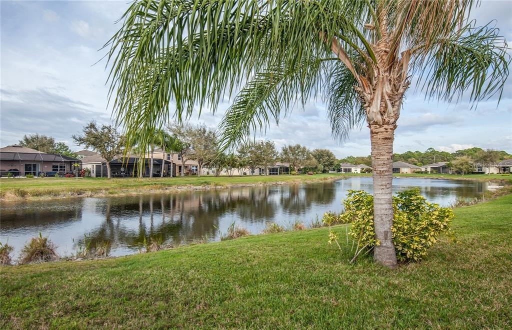 View from the lanai - Single Family Home for sale at 5392 Layton Dr, Venice, FL 34293 - MLS Number is N6109506