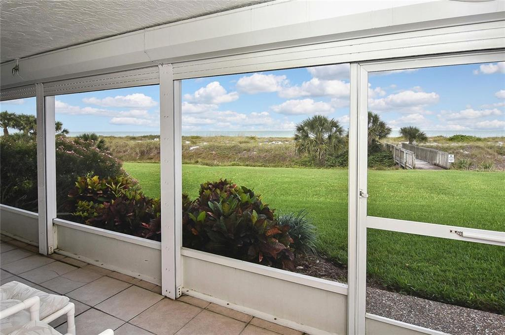 View from lanai - Condo for sale at 862 Golden Beach Blvd #862, Venice, FL 34285 - MLS Number is N6110157