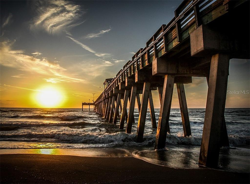 Sunset at the Venice Fishing Pier - Single Family Home for sale at 2208 Casey Key Rd, Nokomis, FL 34275 - MLS Number is N6110959