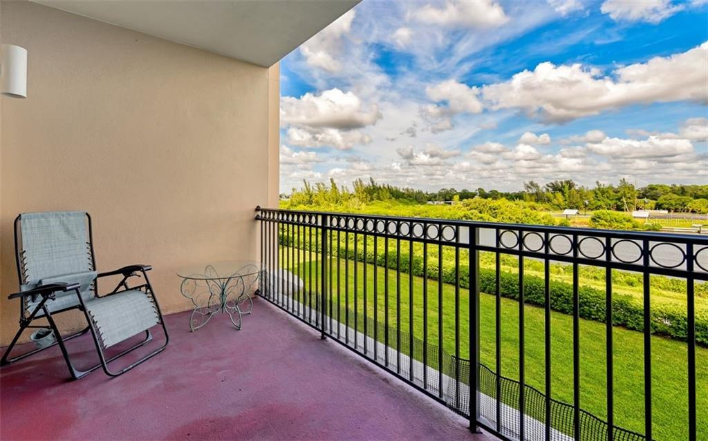 Balcony overlooking the water - Condo for sale at 167 Tampa Ave E #313, Venice, FL 34285 - MLS Number is N6112536