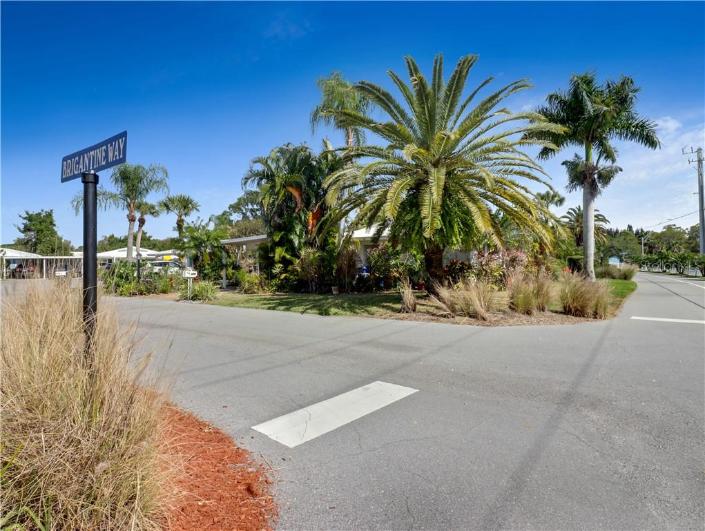 View of property from the street - Villa for sale at 210 Brigantine Way, Nokomis, FL 34275 - MLS Number is N6114165