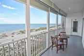 Lanai with view of the Gulf - Condo for sale at 333 The Esplanade N #402, Venice, FL 34285 - MLS Number is N5914981