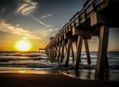Sunset at the Venice Fishing Pier - Vacant Land for sale at 230 Nassau St S, Venice, FL 34285 - MLS Number is N6111555