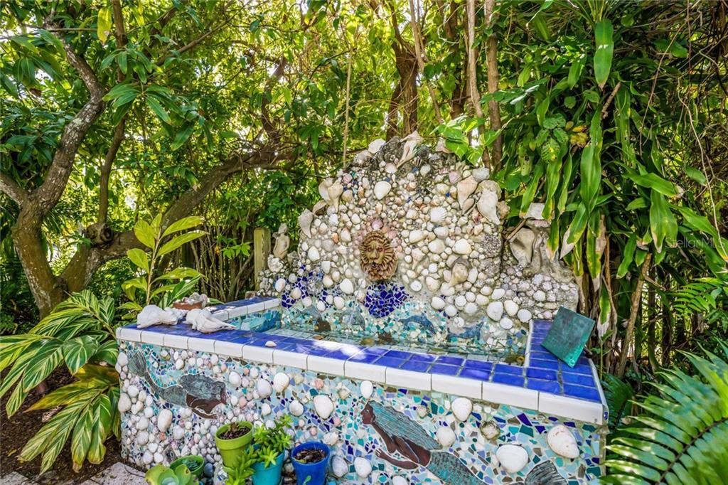 Hand made tile water fountain - Single Family Home for sale at 350 Tarpon Ave, Boca Grande, FL 33921 - MLS Number is D6104230