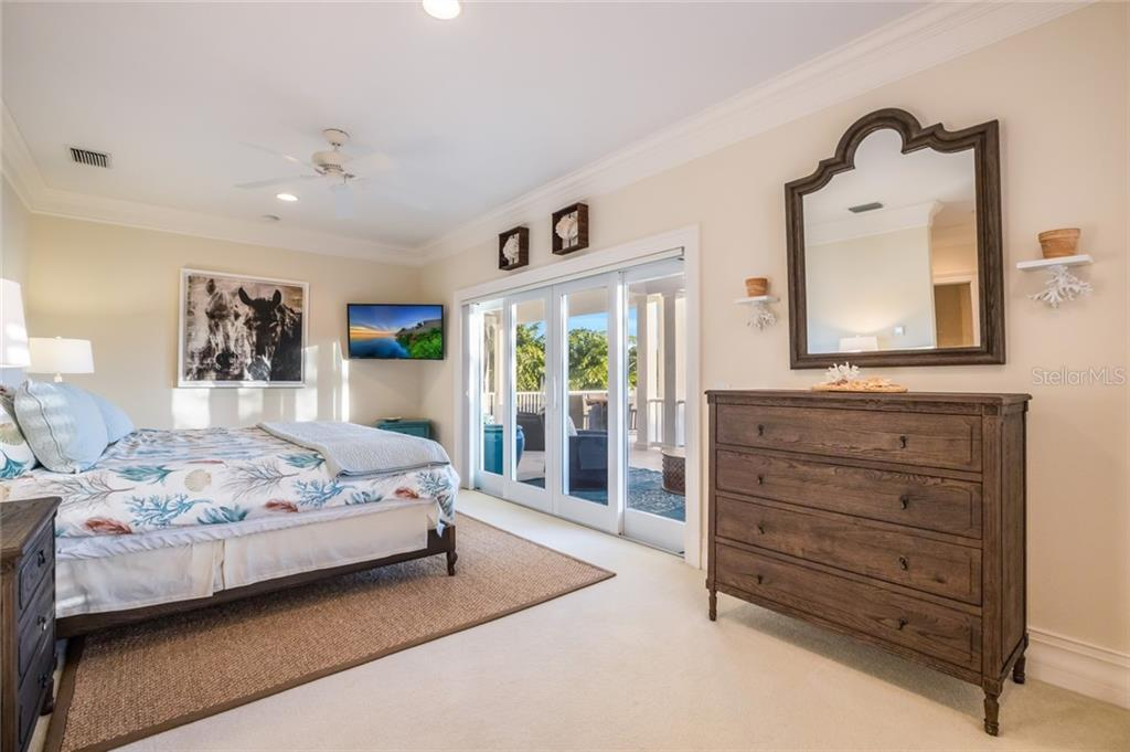 Master suite with water views and direct access to patio - Single Family Home for sale at 1600 E Railroad Ave, Boca Grande, FL 33921 - MLS Number is D6108744