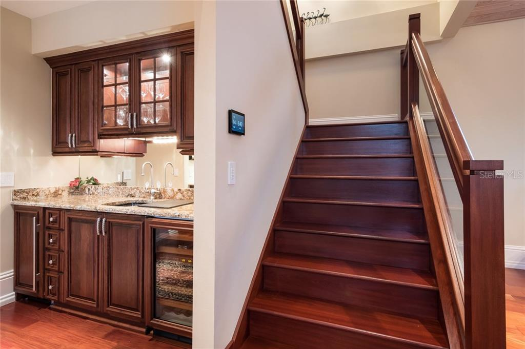 Wet Bar/2nd Level Stairway - Single Family Home for sale at 39 Tidy Island Blvd, Bradenton, FL 34210 - MLS Number is A4202735