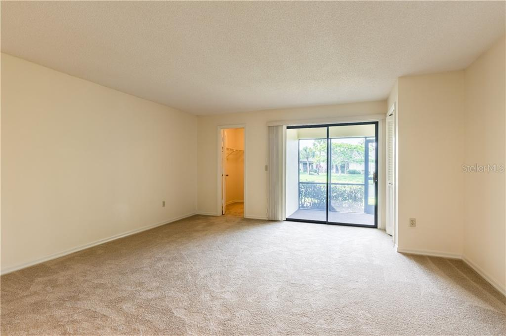 Patio and Walk-in closet in Master - Villa for sale at 3606 Gleneagle Dr #9a, Sarasota, FL 34238 - MLS Number is A4403597