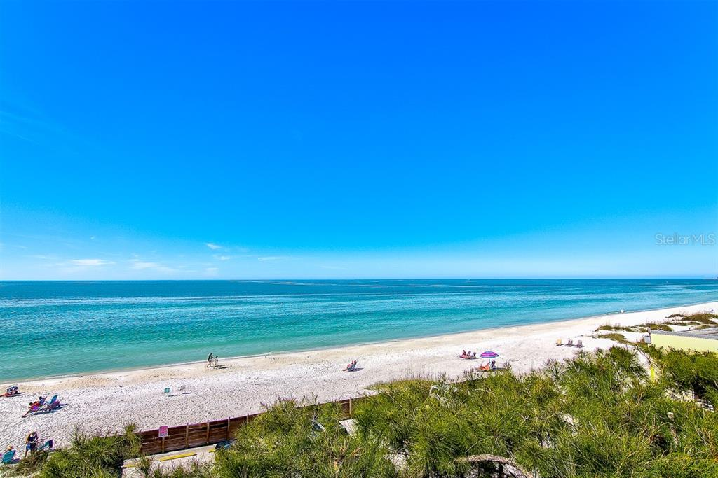 View of the Gulf from the West Balcony - Duplex/Triplex for sale at 2500 Gulf Dr N, Bradenton Beach, FL 34217 - MLS Number is A4424506