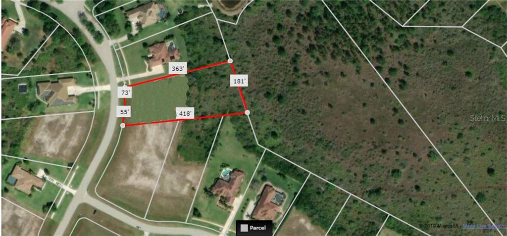 Buffer in the back will not be developed, ensuring privacy for your backyard!  Dimensions provided by Realist, may not be exact. - Vacant Land for sale at 22510 Morning Glory Cir, Bradenton, FL 34202 - MLS Number is A4430942