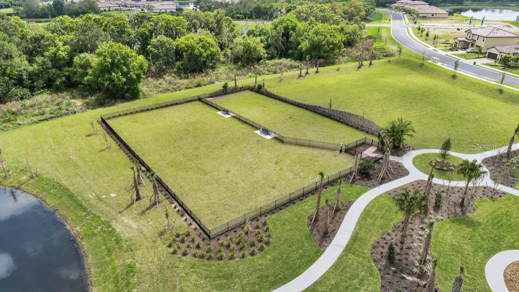 Aerial shot of fence enclosed area - Single Family Home for sale at 2937 Desert Plain Cv, Lakewood Ranch, FL 34211 - MLS Number is A4431016