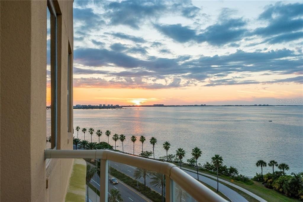 Sunset views from your Private Balcony! - Condo for sale at 128 Golden Gate Pt #902a, Sarasota, FL 34236 - MLS Number is A4433296