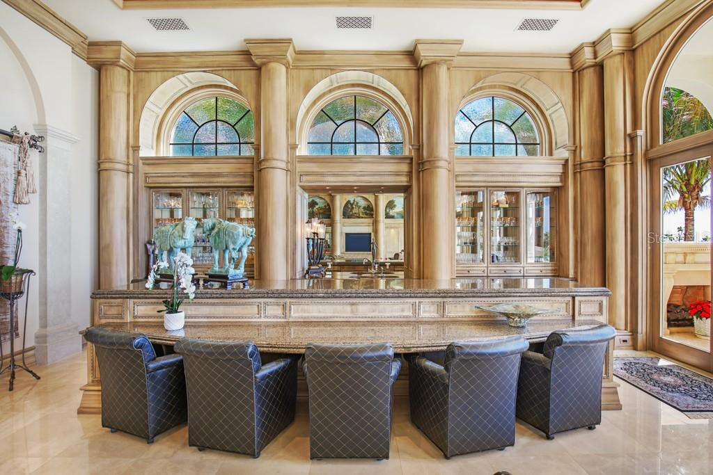 Parlor that can also be an office with wet bar - Single Family Home for sale at 845 Longboat Club Rd, Longboat Key, FL 34228 - MLS Number is A4440615