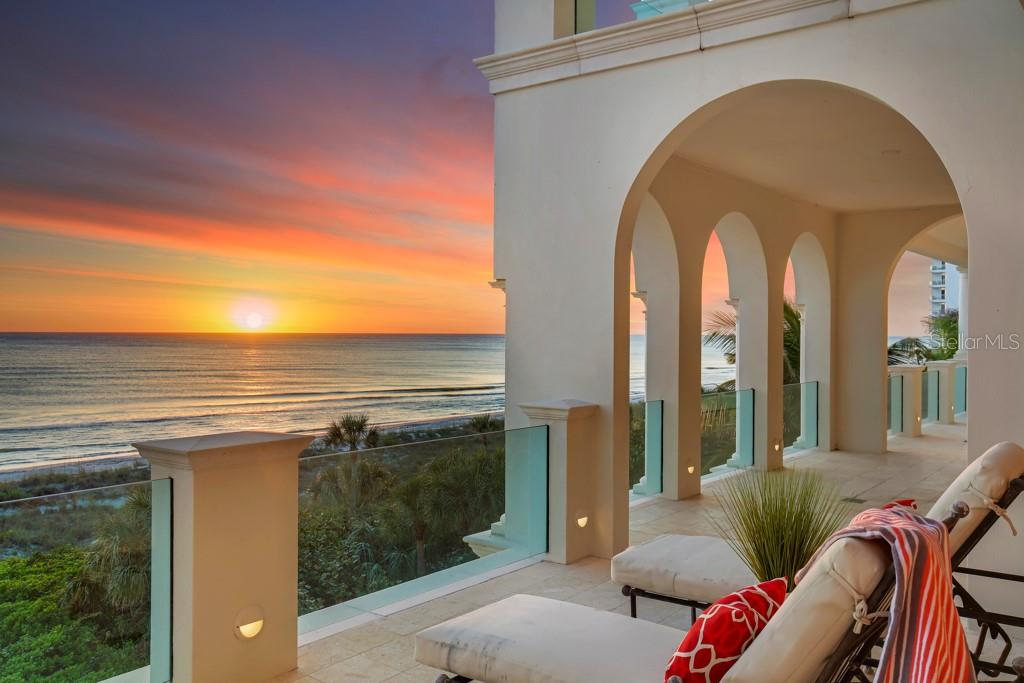 Infinity edge pool overlooking the Gulf of Mexico with sunset views 365 days a year - Single Family Home for sale at 845 Longboat Club Rd, Longboat Key, FL 34228 - MLS Number is A4440615