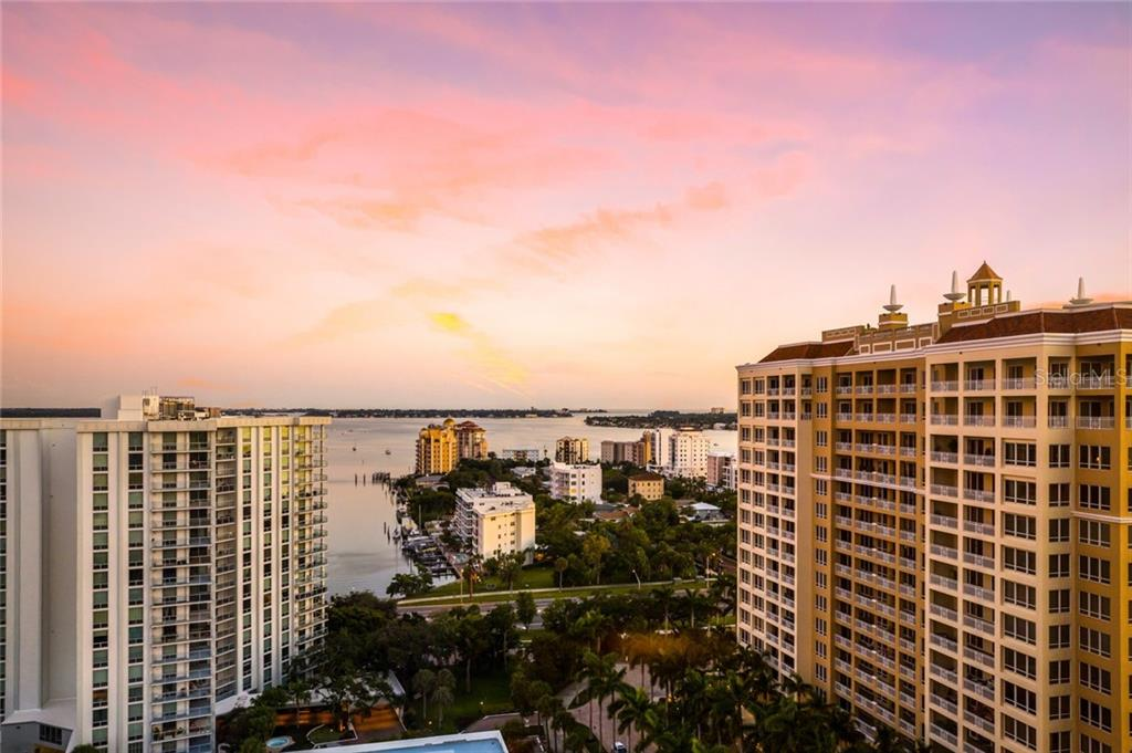 The view from the condo over Golden Gate Point - Condo for sale at 1111 Ritz Carlton Dr #1704, Sarasota, FL 34236 - MLS Number is A4442192