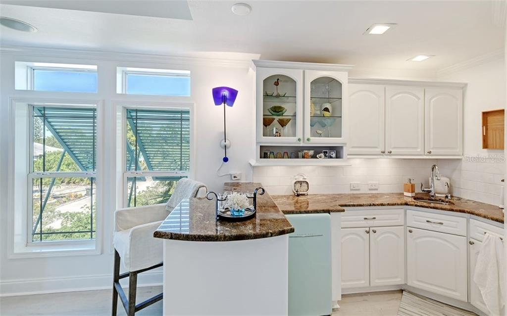 3rd floor kitchen. - Single Family Home for sale at 5365 Calle Florida, Sarasota, FL 34242 - MLS Number is A4449055