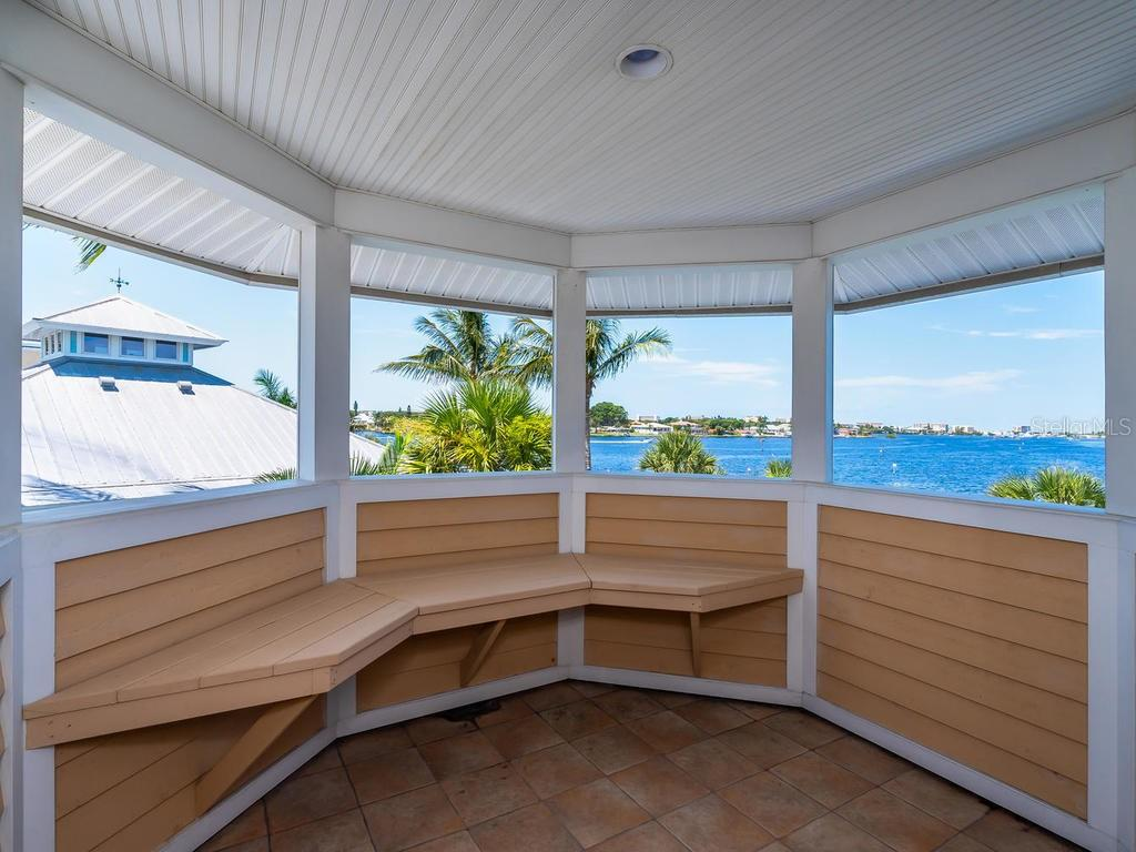 Deck off of office - Single Family Home for sale at 743 Eagle Point Dr, Venice, FL 34285 - MLS Number is N6101092